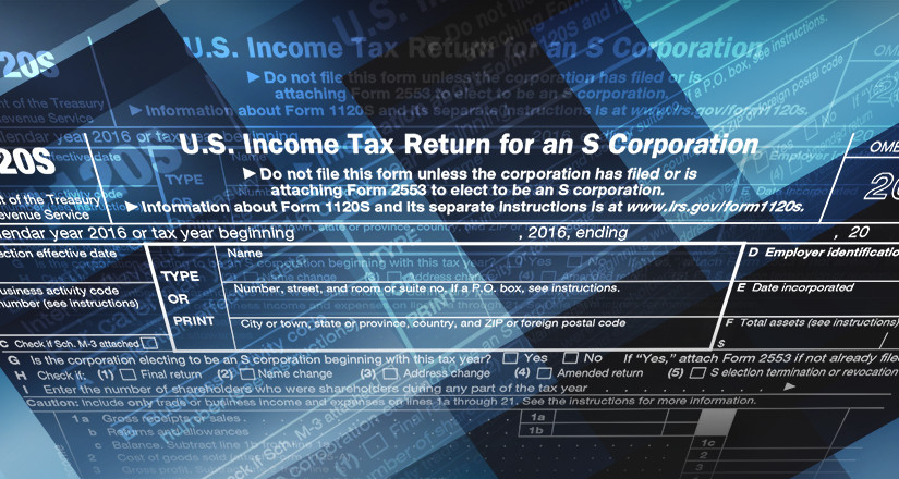 U.S. Income Tax Return for an S Corporation