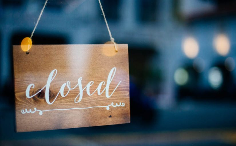 Small Business Closed Sign